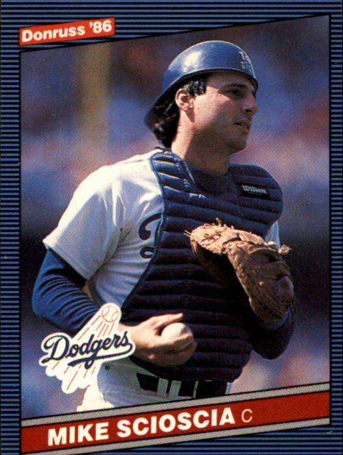1986 Donruss #93 Mike Scioscia