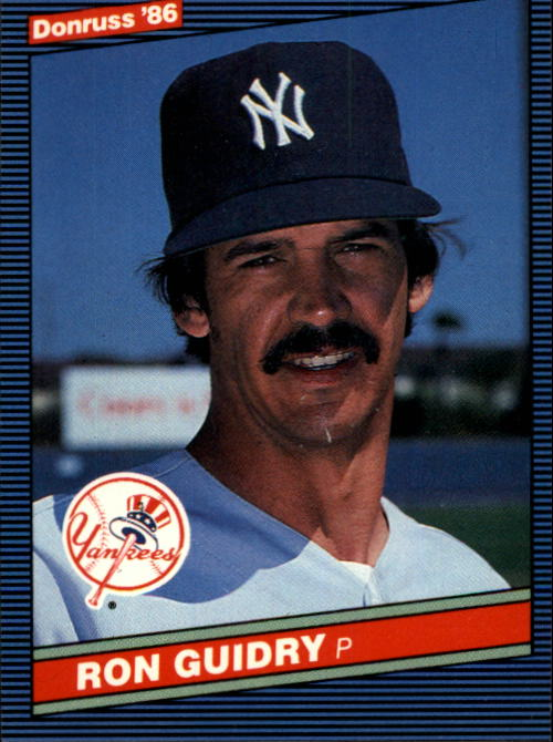 1986 Donruss #103 Ron Guidry