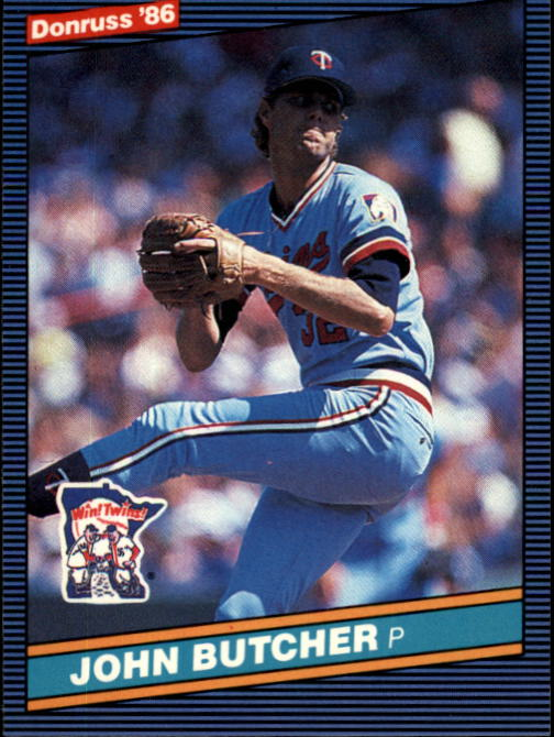 1986 Donruss #120 John Butcher