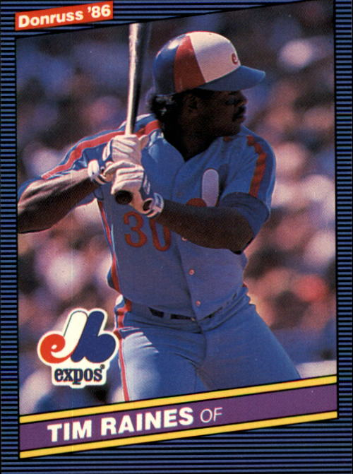 1986 Donruss #177 Tim Raines