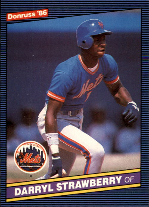 1986 Donruss #197 Darryl Strawberry