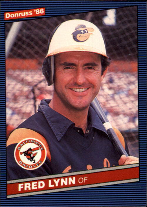 1986 Donruss #245 Fred Lynn