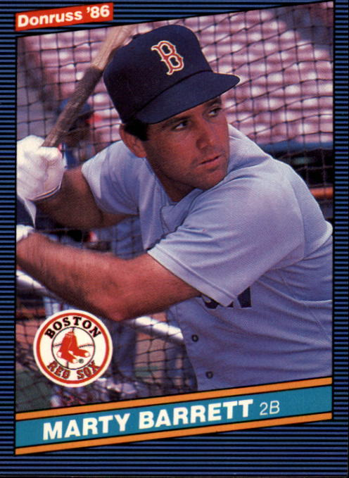 1986 Donruss #294 Marty Barrett