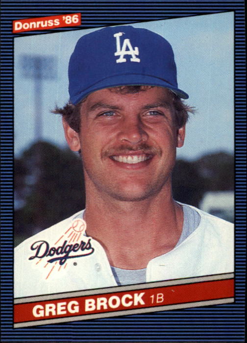 1986 Donruss #296 Greg Brock