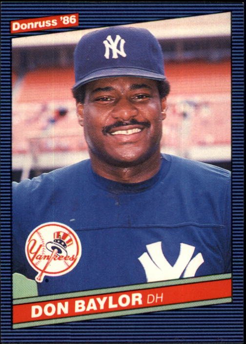 1986 Donruss #347 Don Baylor