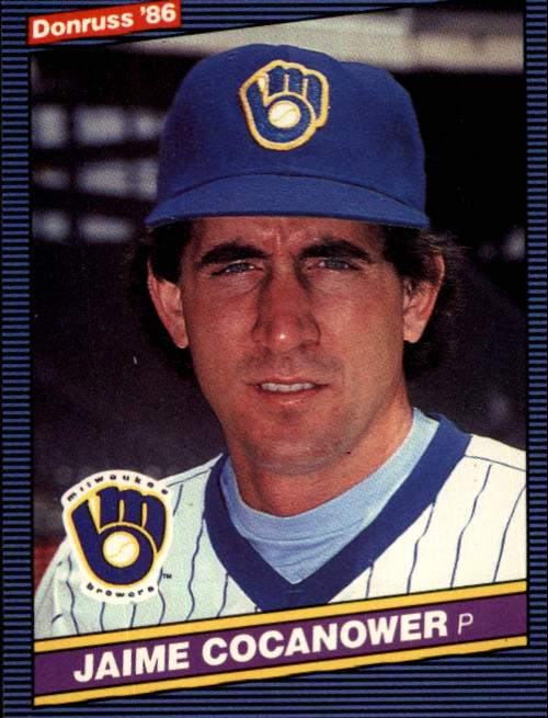 1986 Donruss #393 Jaime Cocanower