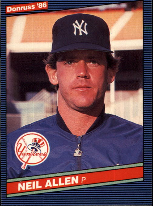 1986 Donruss #610 Neil Allen