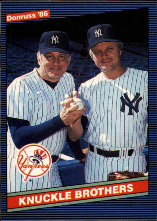 1986 Donruss #645 The Knuckle Brothers