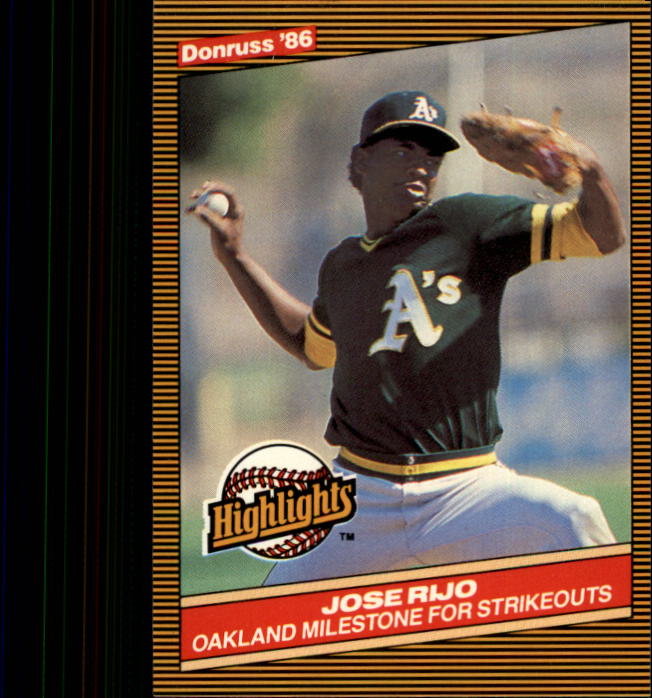 1986 Donruss Highlights #2 Jose Rijo