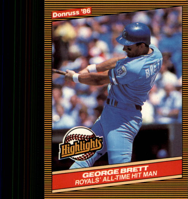 1986 Donruss Highlights #3 George Brett