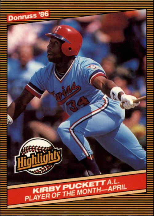 1986 Donruss Highlights #7 Kirby Puckett