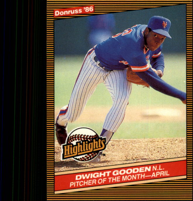 1986 Donruss Highlights #8 Dwight Gooden