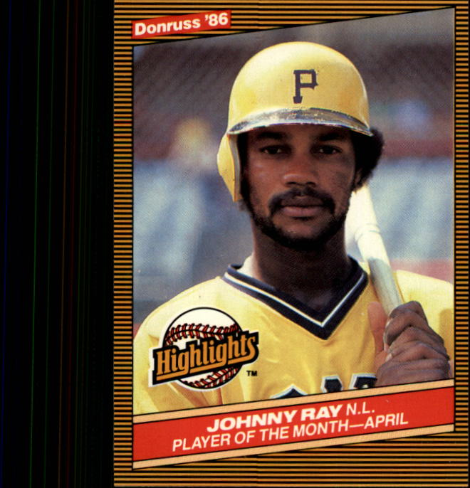 1986 Donruss Highlights #9 Johnny Ray