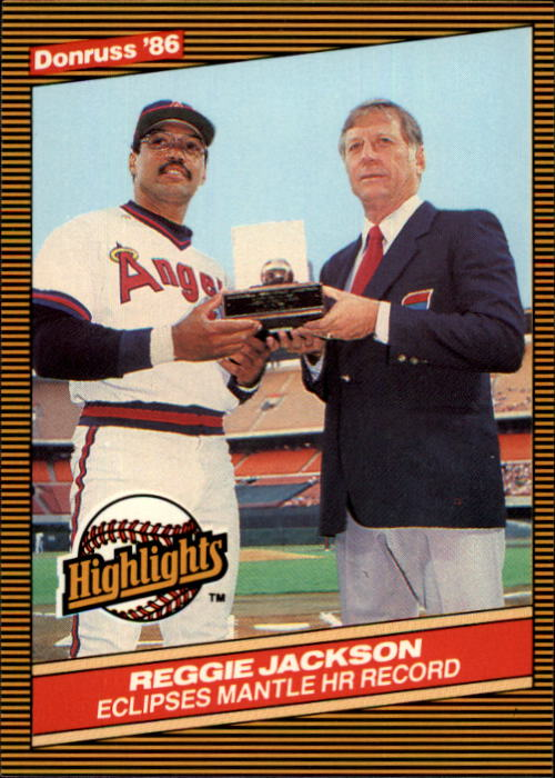 1986 Donruss Highlights #10 M.Mantle/R.Jackson