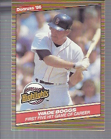 1986 Donruss Highlights #11 Wade Boggs