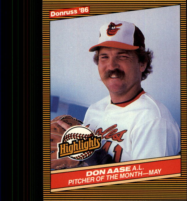 1986 Donruss Highlights #12 Don Aase