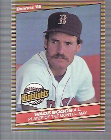 1986 Donruss Highlights #13 Wade Boggs