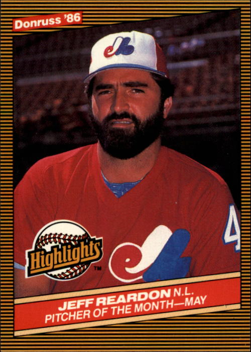 1986 Donruss Highlights #14 Jeff Reardon