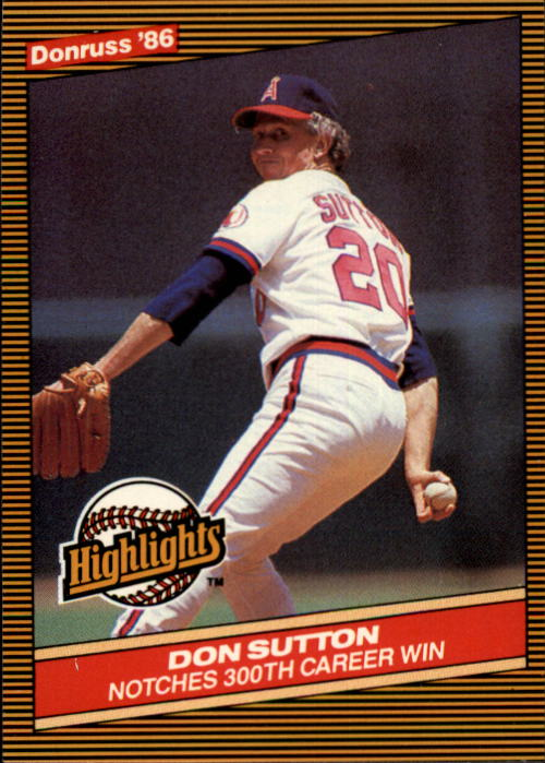 1986 Donruss Highlights #16 Don Sutton