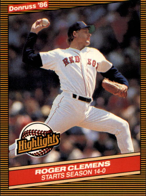1986 Donruss Highlights #17 Roger Clemens