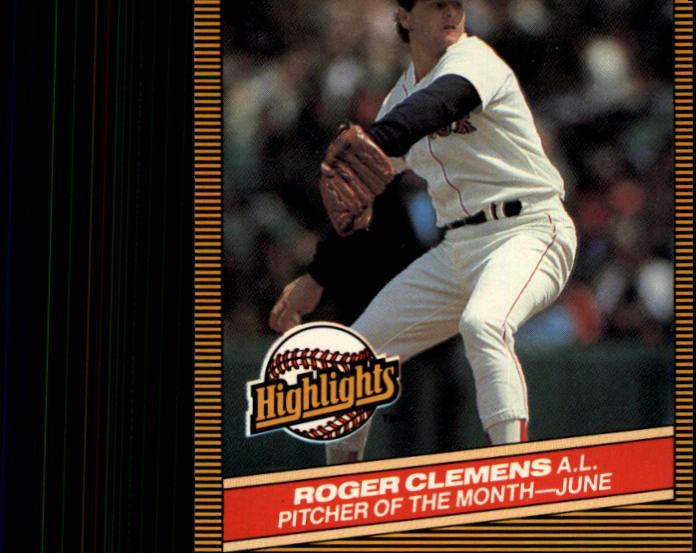 1986 Donruss Highlights #18 Roger Clemens front image