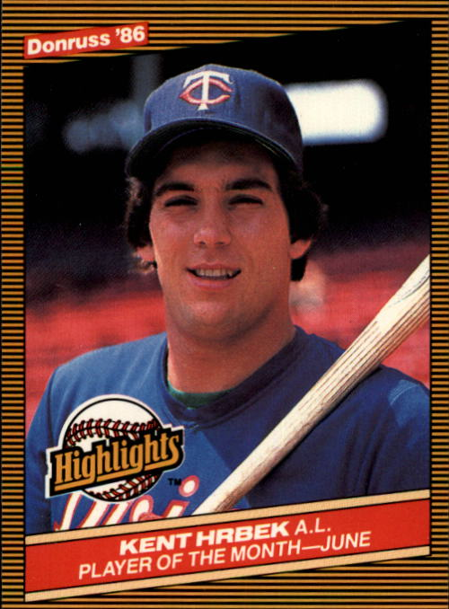 1986 Donruss Highlights #19 Kent Hrbek