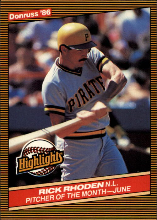 1986 Donruss Highlights #20 Rick Rhoden