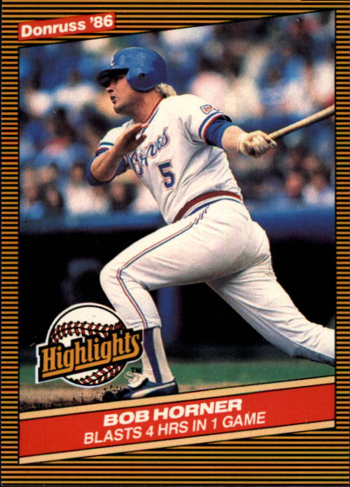 1986 Donruss Highlights #22 Bob Horner