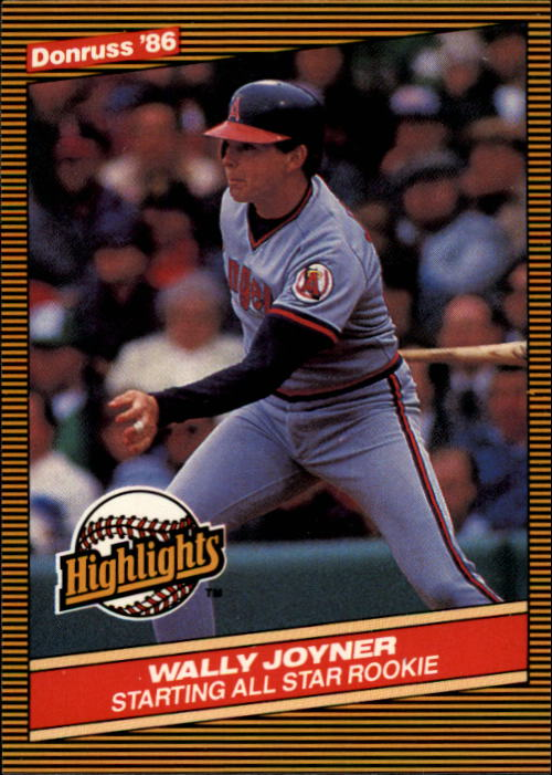 1986 Donruss Highlights #23 Wally Joyner