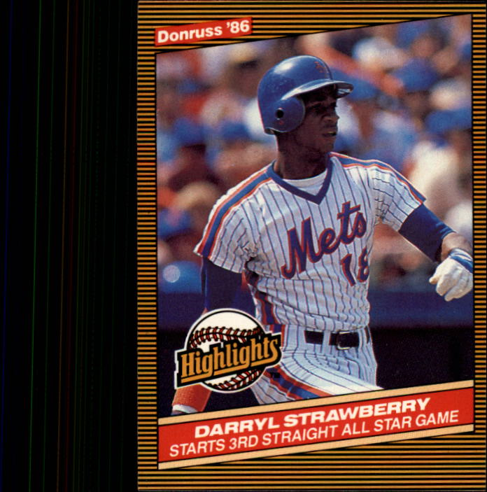 1986 Donruss Highlights #24 Darryl Strawberry