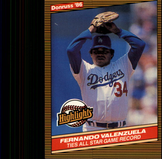1986 Donruss Highlights #25 Fernando Valenzuela