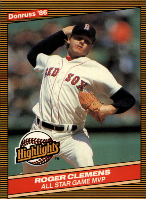 1986 Donruss Highlights #26 Roger Clemens