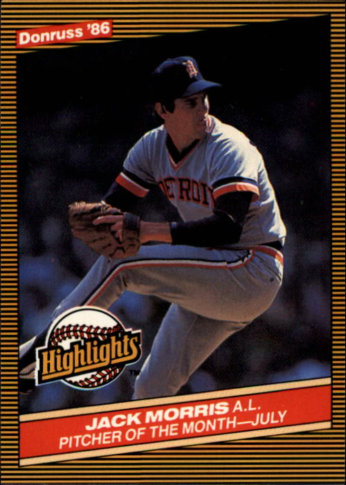 1986 Donruss Highlights #27 Jack Morris