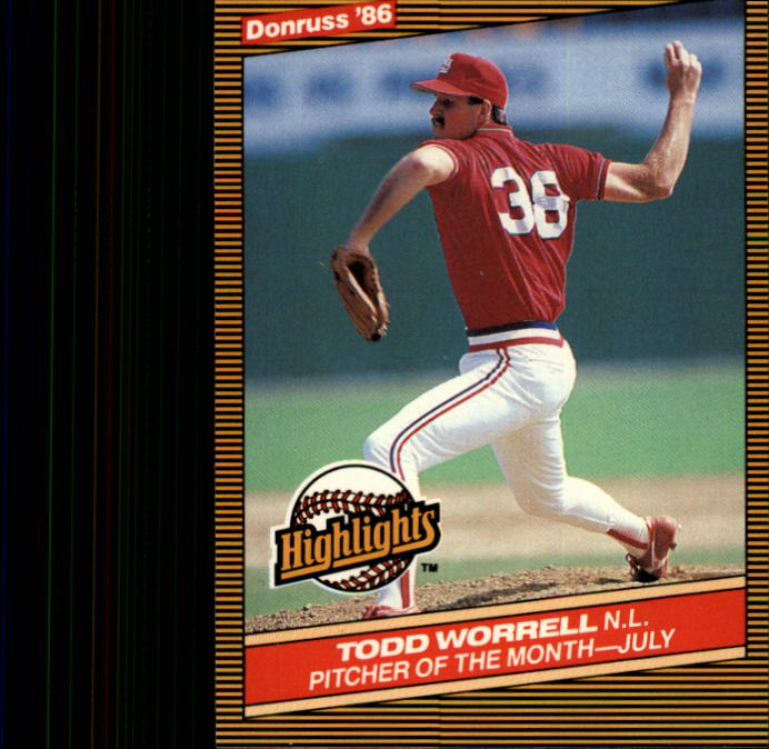 1986 Donruss Highlights #29 Todd Worrell