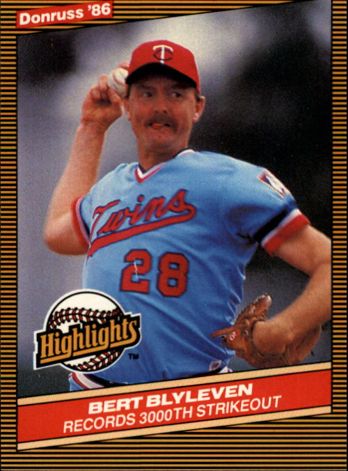 1986 Donruss Highlights #31 Bert Blyleven