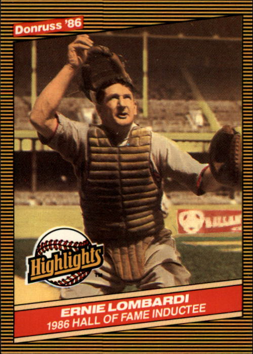 1986 Donruss Highlights #33 Ernie Lombardi front image