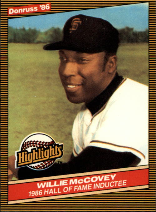 1986 Donruss Highlights #34 Willie McCovey