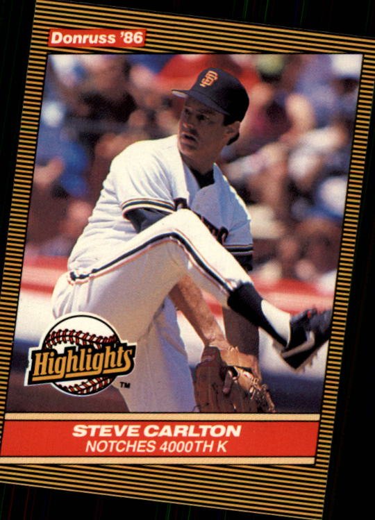 1986 Donruss Highlights #35 Steve Carlton