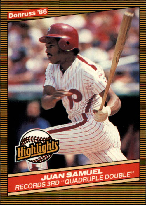 1986 Donruss Highlights #37 Juan Samuel