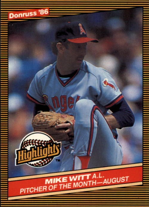 1986 Donruss Highlights #38 Mike Witt
