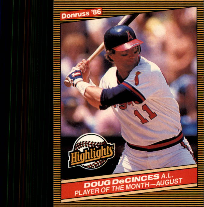 1986 Donruss Highlights #39 Doug DeCinces