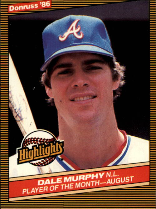 1986 Donruss Highlights #41 Dale Murphy
