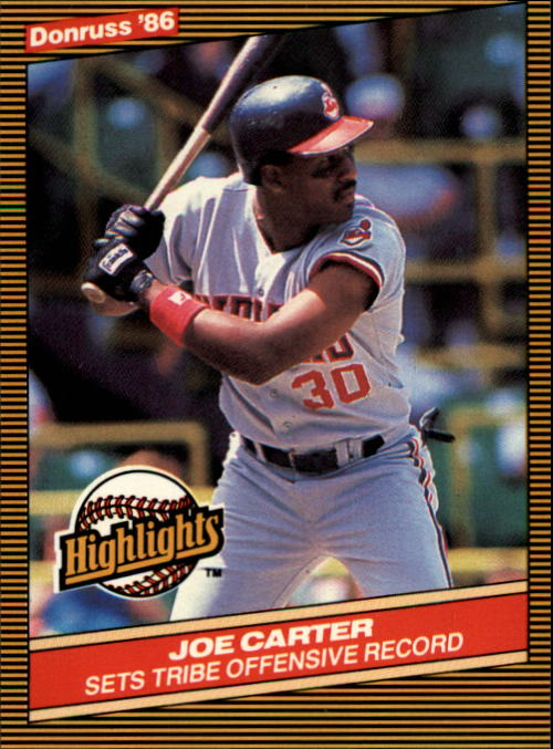 1986 Donruss Highlights #42 Joe Carter