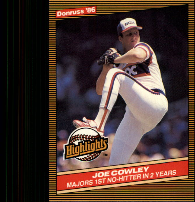 1986 Donruss Highlights #44 Joe Cowley