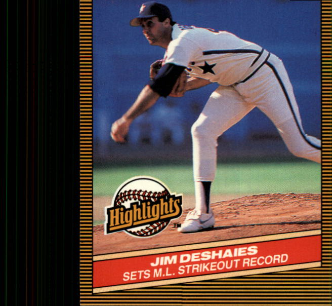 1986 Donruss Highlights #45 Jim Deshaies