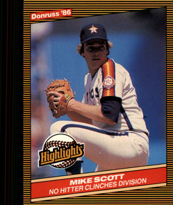 1986 Donruss Highlights #46 Mike Scott