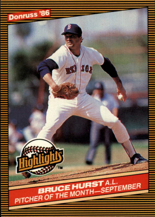 1986 Donruss Highlights #47 Bruce Hurst