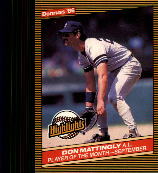 1986 Donruss Highlights #48 Don Mattingly front image