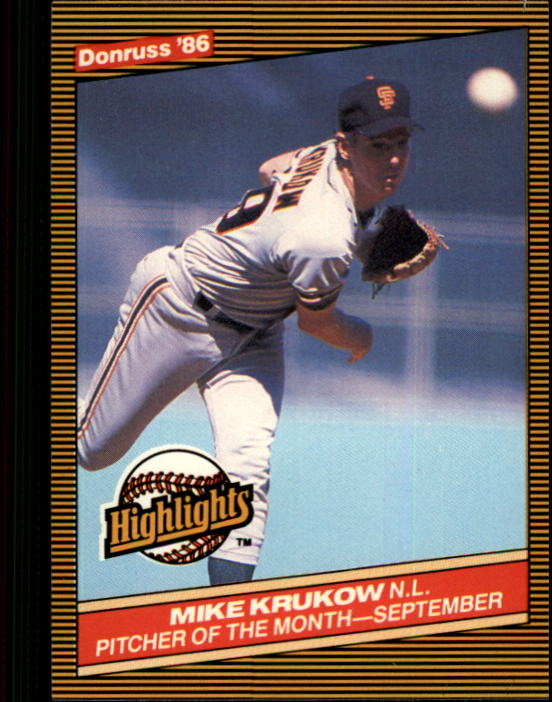 1986 Donruss Highlights #49 Mike Krukow