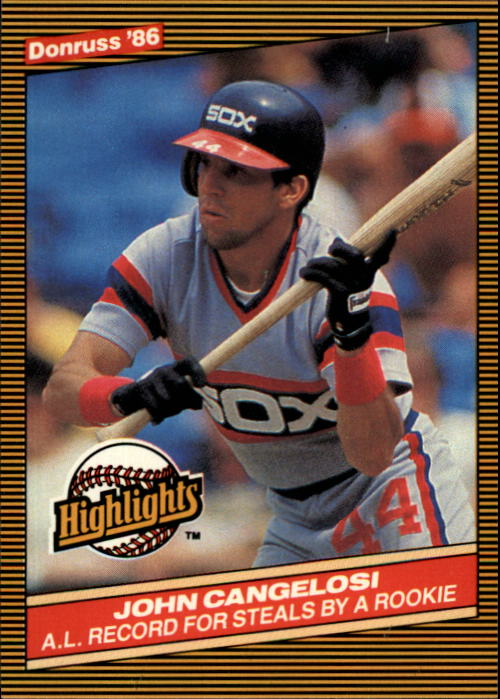 1986 Donruss Highlights #51 John Cangelosi